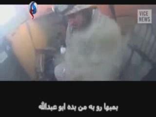 فیلمی از بالای کلاهخود یک داعشی با زیرنویس فارسی
